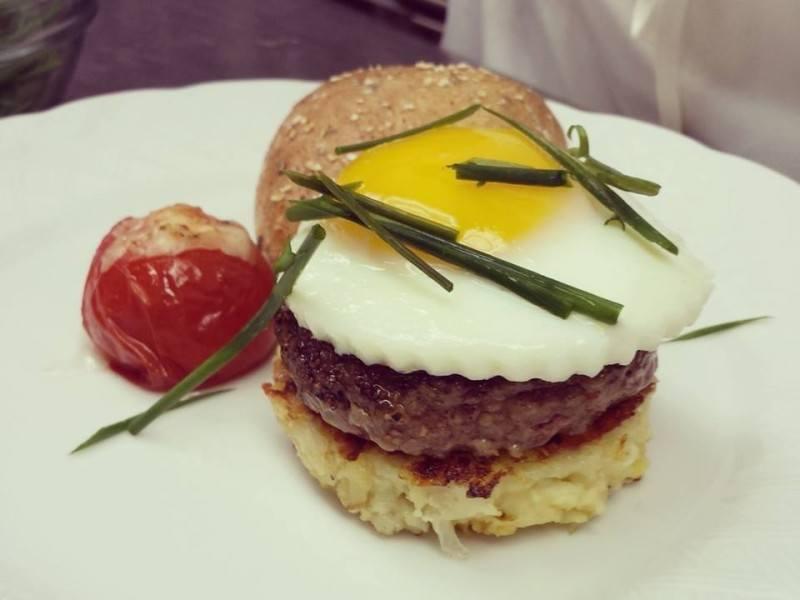 Angus Slider w/ Potato Hash & A Sunny Egg