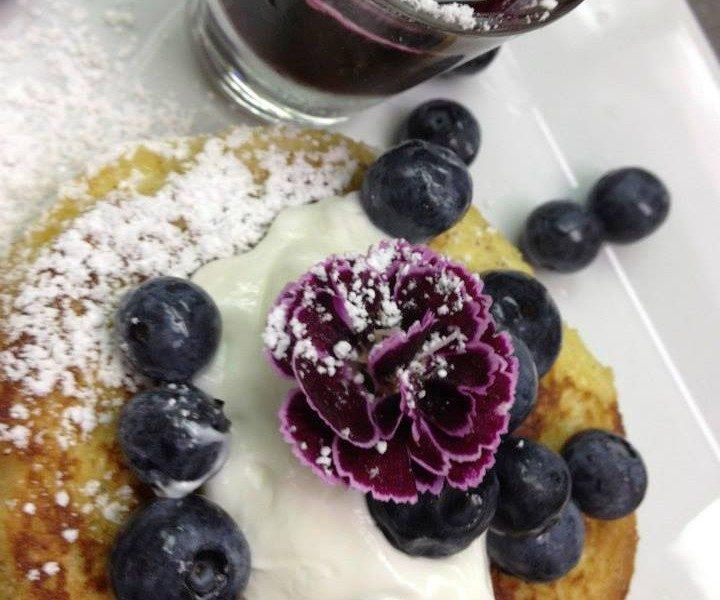 Blueberry Pancakes w/ Creme Fraiche