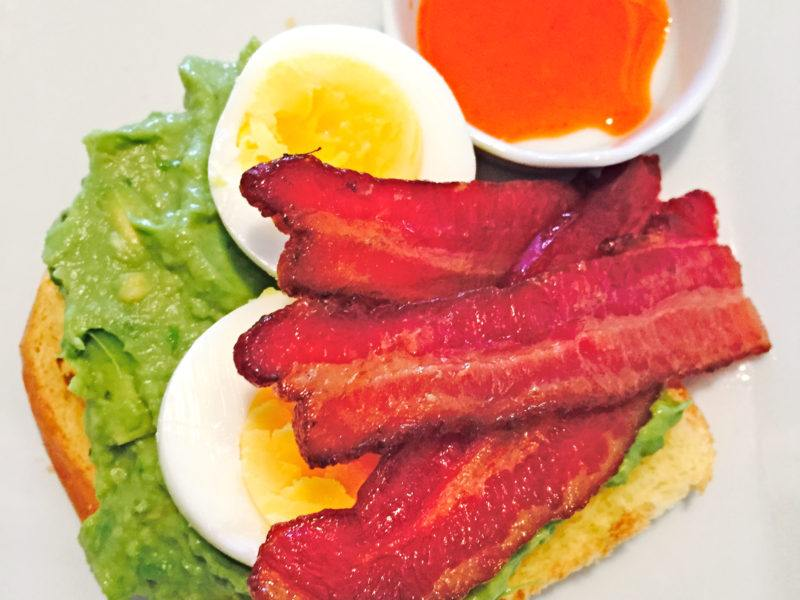 Avocado Toast w/ Eggs & Bacon