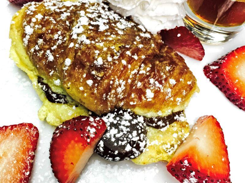Mini Chocolate Croissants w/ Creme Fraiche