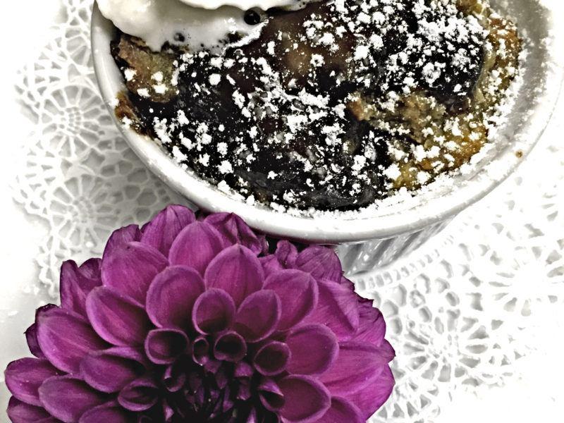 Croissant Bread Pudding w/ Dahlias